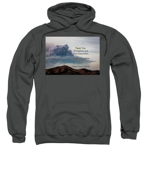 Smoke Cloud Over Two Trees Sweatshirt