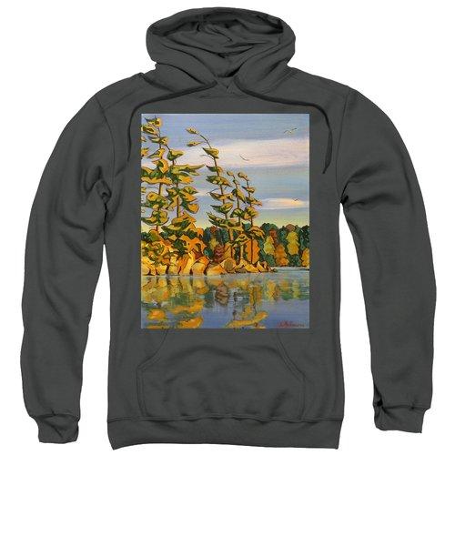 Snake Island In Fall Sunset Sweatshirt