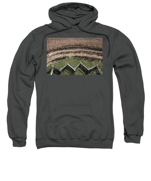Snake-rail Fence And Cornfield Sweatshirt