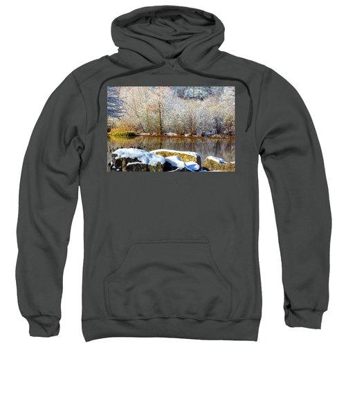 Snow Across The Lake Sweatshirt