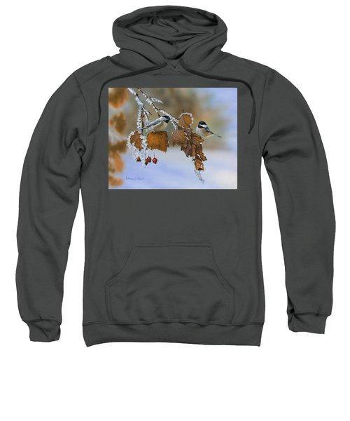 Snow Chickadees Sweatshirt