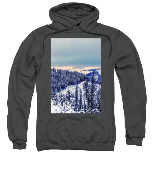 Snow Covered Mountains Sweatshirt