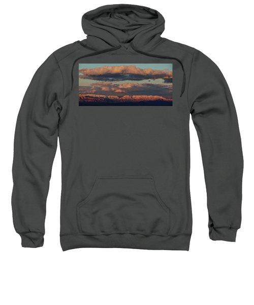 Snow Covered Red Rock Panorama Sweatshirt