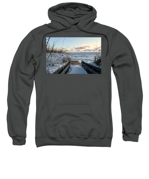 Snow Day At The Beach Sweatshirt