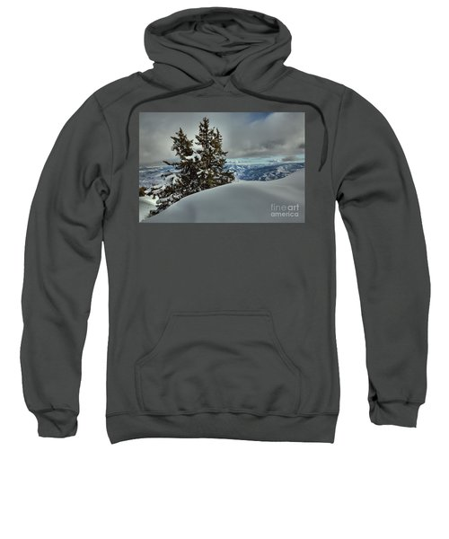 Snow Drifts And Mountains Sweatshirt