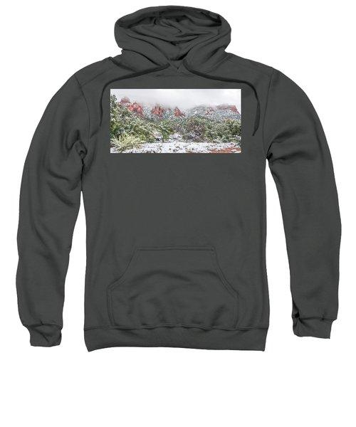 Snow On Red Rock Sweatshirt