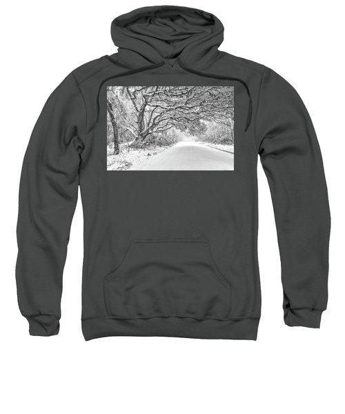 Snow On Witsell Rd - Oak Tree Sweatshirt