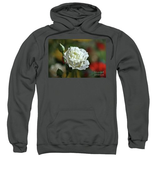 Sweatshirt featuring the photograph Snow White by Stephen Mitchell