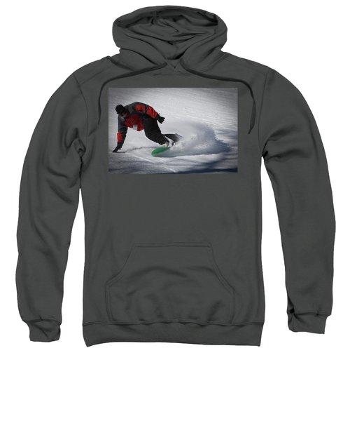 Sweatshirt featuring the photograph Snowboarder On Mccauley by David Patterson