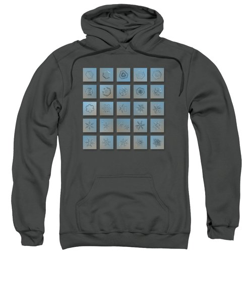 Snowflake Collage - Season 2013 Bright Crystals Sweatshirt