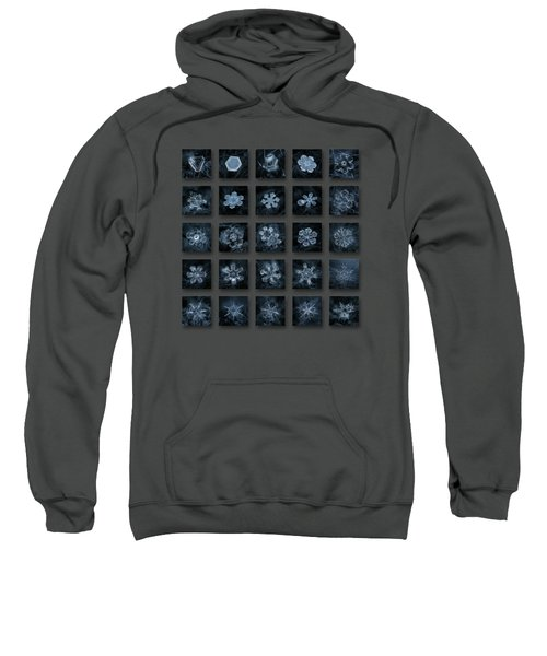Snowflake Collage - Season 2013 Dark Crystals Sweatshirt