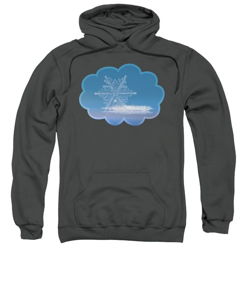 Snowflake Photo - Cloud Number Nine Sweatshirt