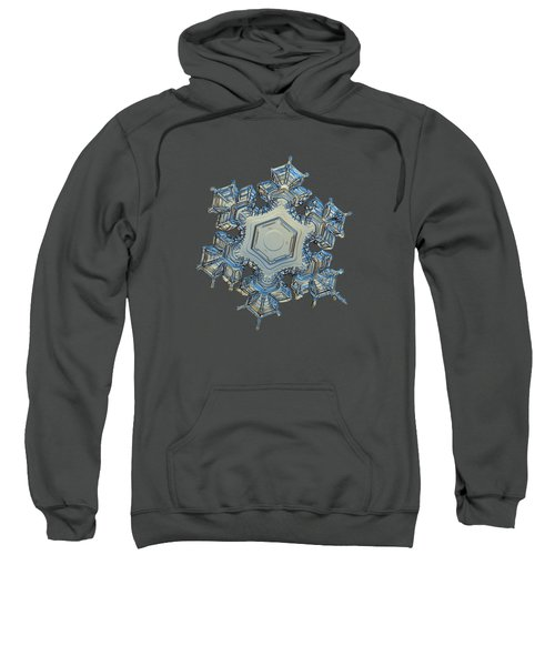 Snowflake Photo - Iron Crown Sweatshirt by Alexey Kljatov