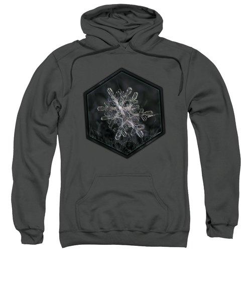 Snowflake Photo - January 18 2013 Grey Colors Sweatshirt
