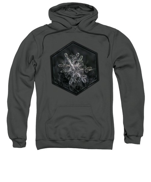Snowflake Photo - January 18 2013 Grey Colors Sweatshirt