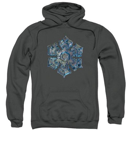 Snowflake Photo - Silver Foil Sweatshirt