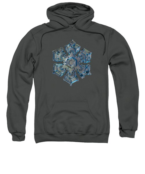 Snowflake Photo - Silver Foil Sweatshirt