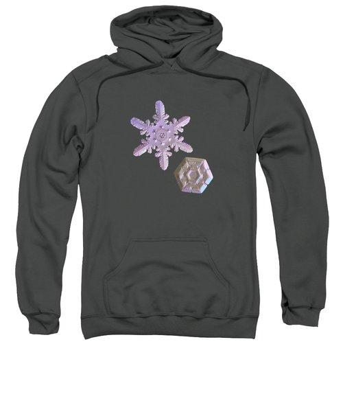 Snowflake Photo - Two Hearts Sweatshirt