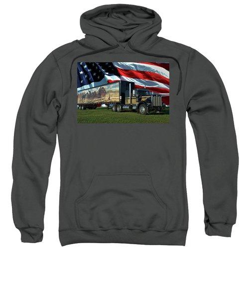 Snowmans Dream Semi Truck Sweatshirt