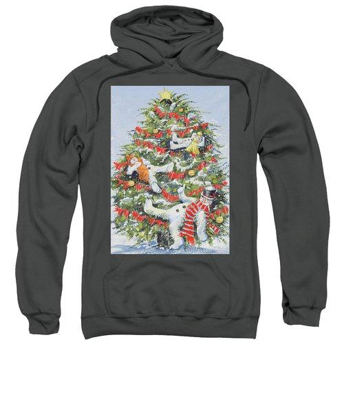 Snowmen In A Christmas Tree Sweatshirt