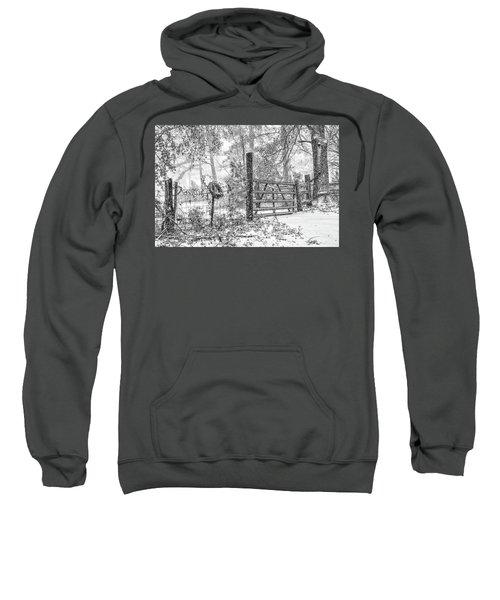 Snowy Cattle Gate Sweatshirt