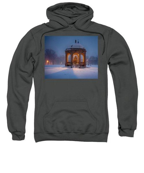 Snowy Night On The Salem Common Sweatshirt