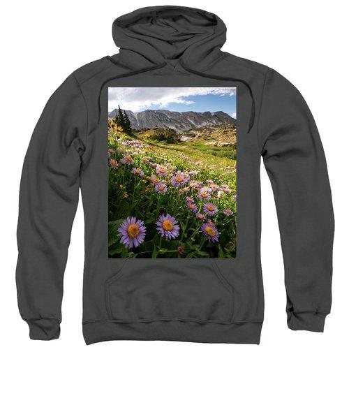 Snowy Range Flowers Sweatshirt