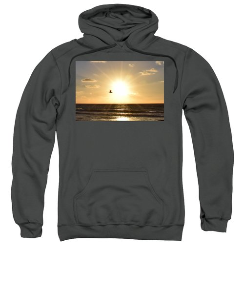 Soaring Seagull Sunset Over Imperial Beach Sweatshirt