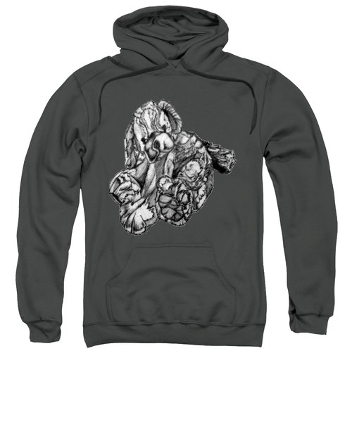 Sweatshirt featuring the drawing Soft Puppy Drawing by Jayvon Thomas