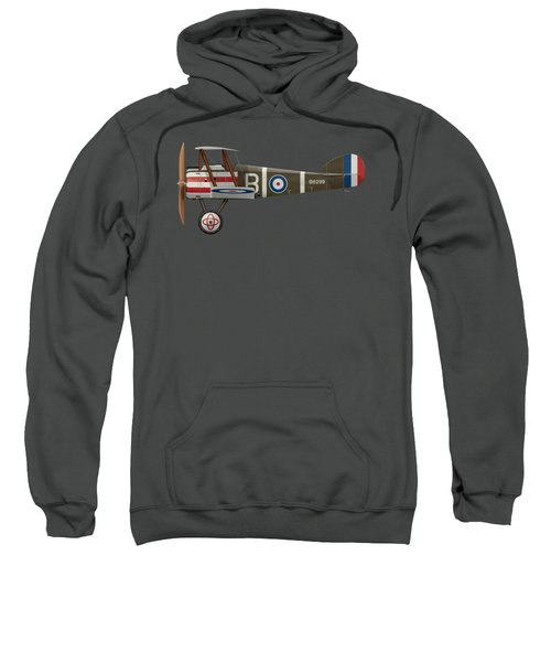 Sopwith Camel - B6299 - Side Profile View Sweatshirt by Ed Jackson