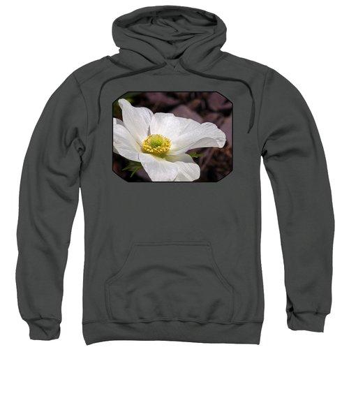 Sparkling White Anemone Sweatshirt