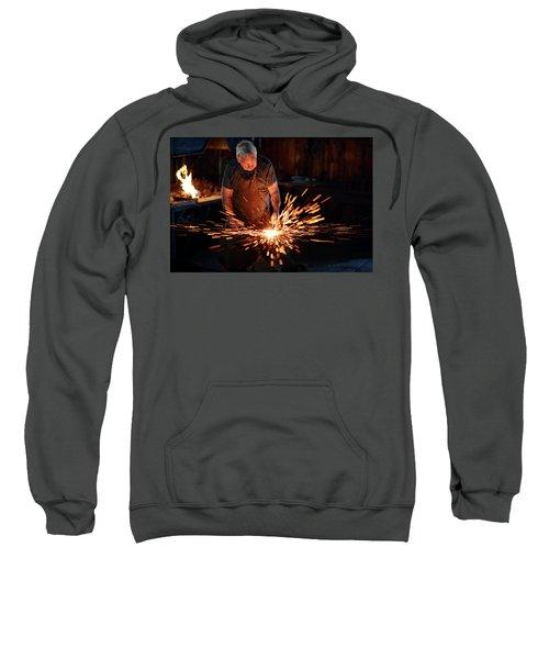Sparks When Blacksmith Hit Hot Iron Sweatshirt