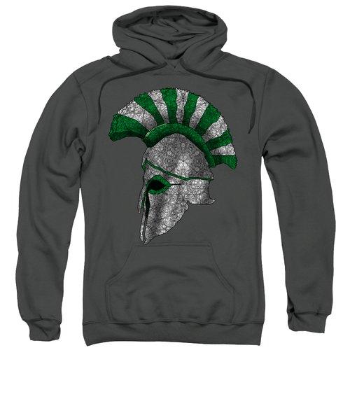 Spartan Helmet Sweatshirt by Dusty Conley