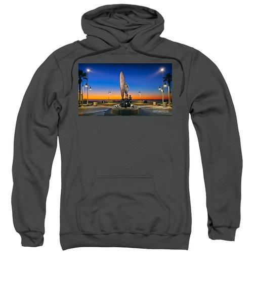 Spirit Of Imperial Beach Surfer Sculpture Sweatshirt