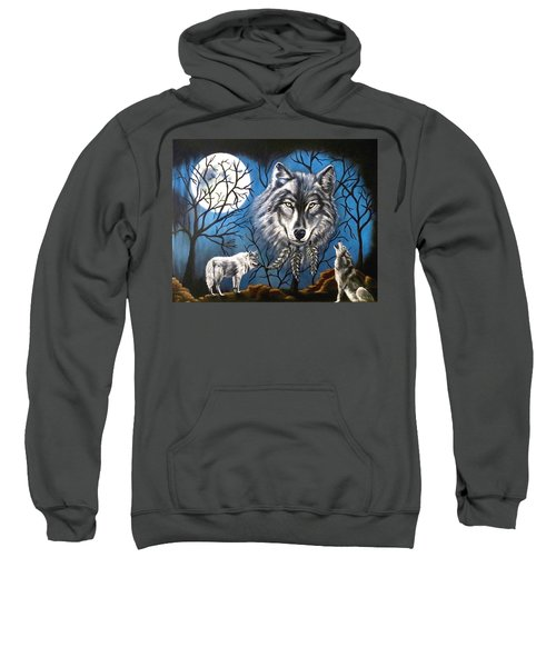 Spirit Wolf Sweatshirt by Teresa Wing