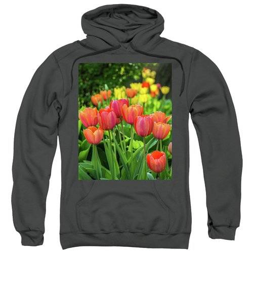 Sweatshirt featuring the photograph Splash Of April Color by Bill Pevlor