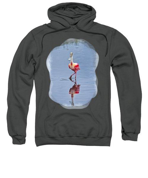 Spoonbill 2 Sweatshirt by John M Bailey