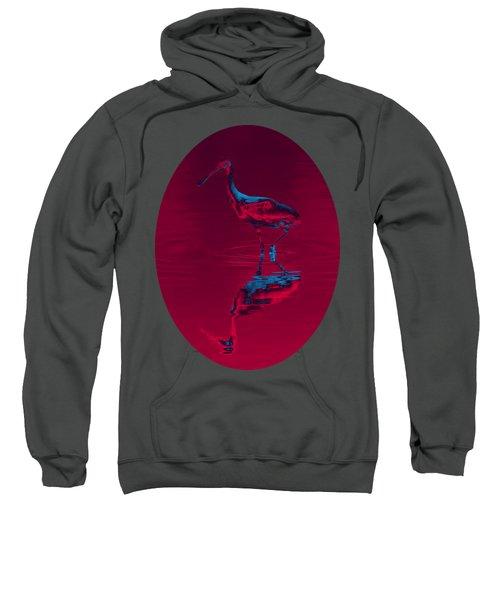 Spoonbill Abstract Decor Sweatshirt by John M Bailey