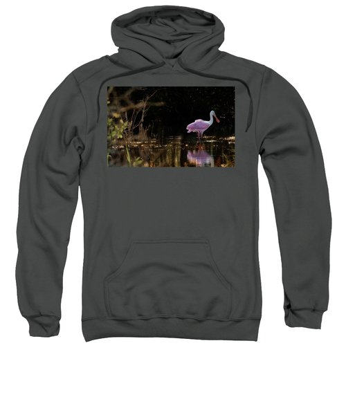 Spoonbill Fishing For Supper Sweatshirt