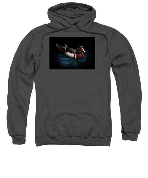 Spotlight On A Wood Duck Sweatshirt