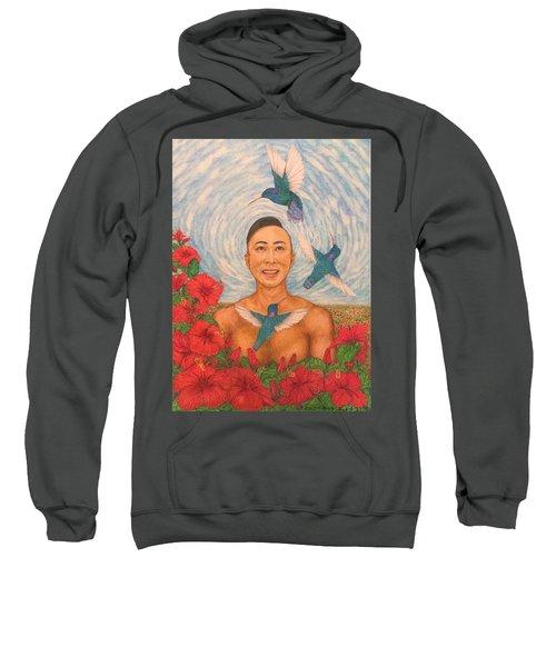 Spring Amazed By The Hummingbirds Sweatshirt by Kent Chua