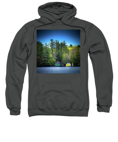 Spring Day At Old Forge Pond Sweatshirt by David Patterson