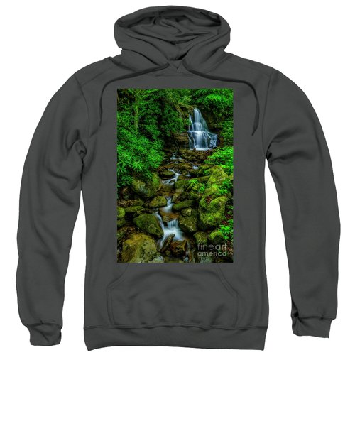 Spring Green Waterfall And Rhododendron Sweatshirt