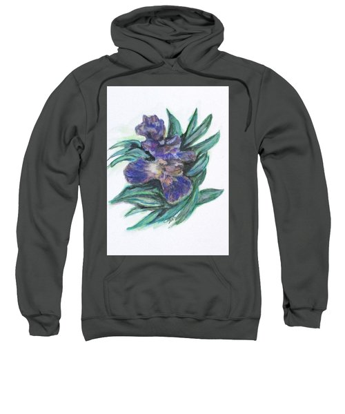 Spring Iris Bloom Sweatshirt