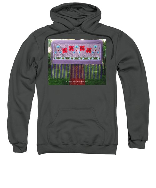 Sweatshirt featuring the tapestry - textile Spring Rising by Chholing Taha