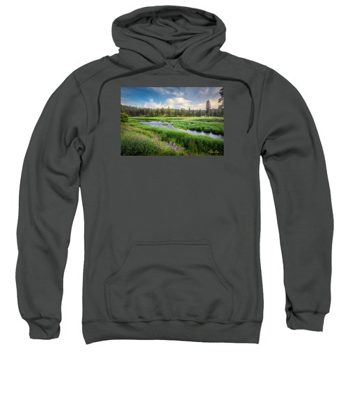 Sweatshirt featuring the photograph Spring River Valley by Rikk Flohr