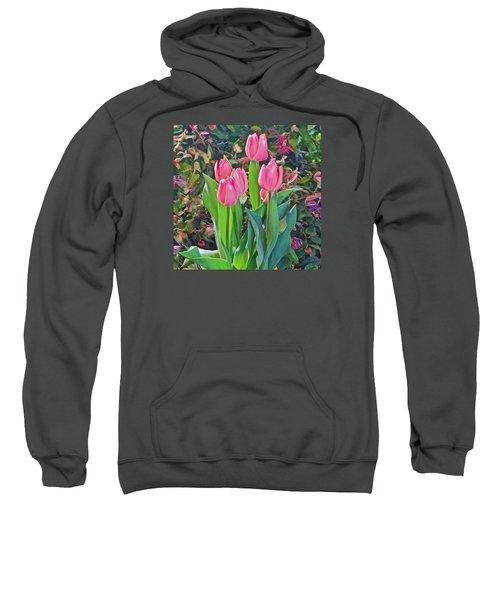 Spring Show 14 Pink Tulips  Sweatshirt
