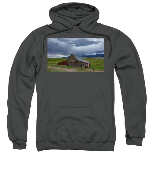 Spring Storm Looms Above The Wet Mountain Valley Sweatshirt