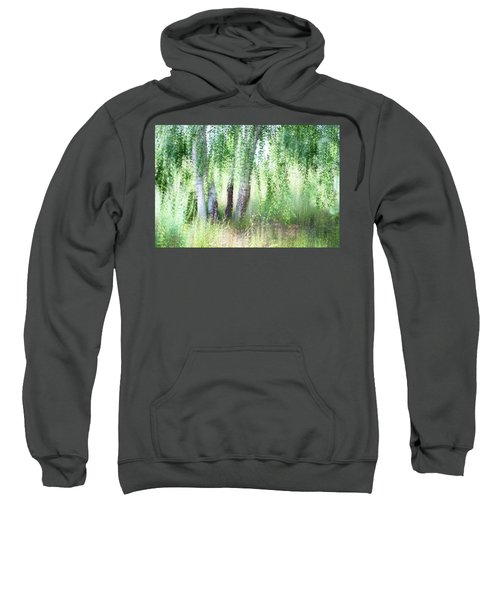 Spring Wind In Birch Grove Sweatshirt