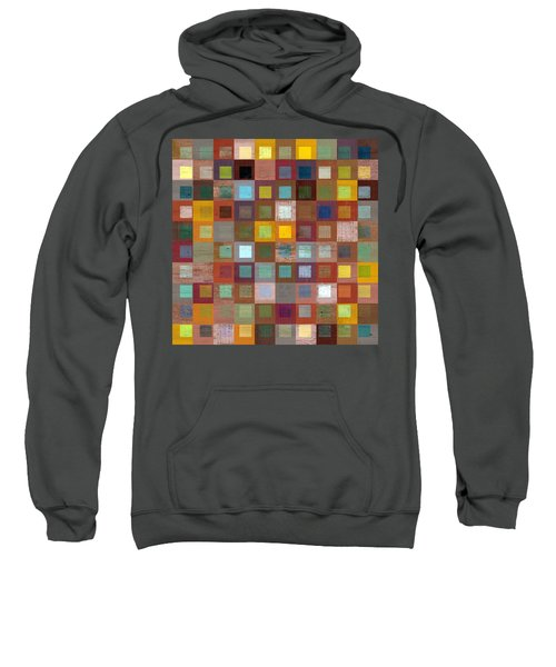 Sweatshirt featuring the digital art Squares In Squares Four by Michelle Calkins